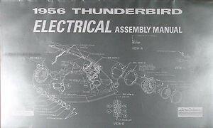 details about 1956 thunderbird electrical assembly manual 56 t bird wiring diagrams ford
