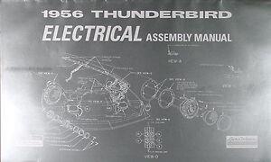 1956 thunderbird electrical assembly manual 56 t bird ... 1965 ford t bird wiring 56 t bird wiring