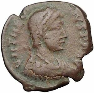 THEODOSIUS-I-the-Great-388AD-Ancient-Roman-Coin-Military-Camp-Gate-i32508
