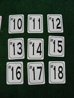 Back 9 Hole Marker Signs 4 Golf Course Country Club Pro Shop Driving Range