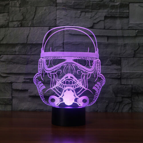 STAR WARS STORM TROOPER SKULL 3D Acrylic LED 7 Color Night Light Touch Lamp Gift