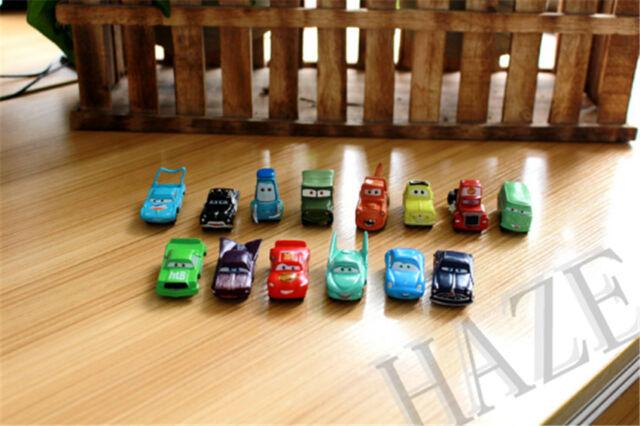 New PIXAR CARS Lightning McQueen Mater Sally Luigi Figures 14PCS//set