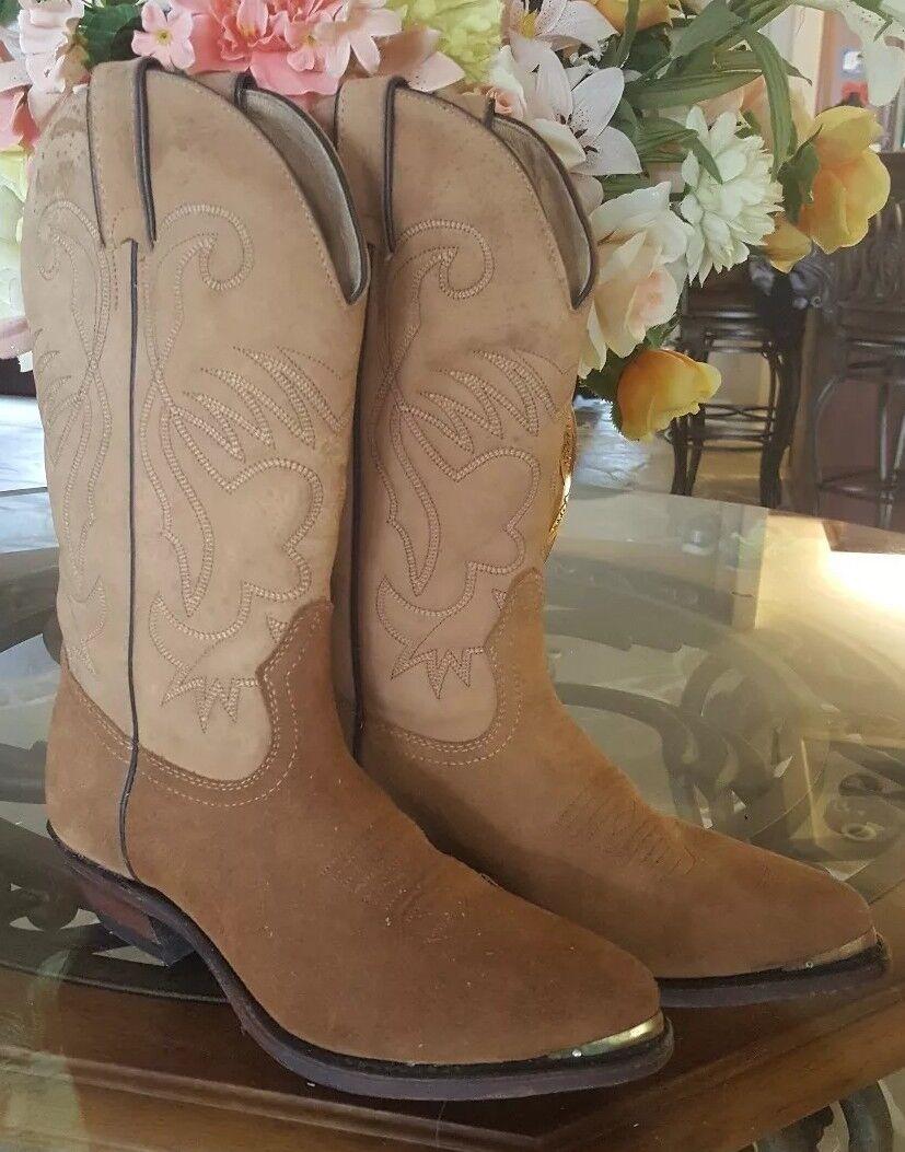 Boulet Gamuza botas botas botas de vaquero occidental para mujer Talla 7 Nuevos  venta