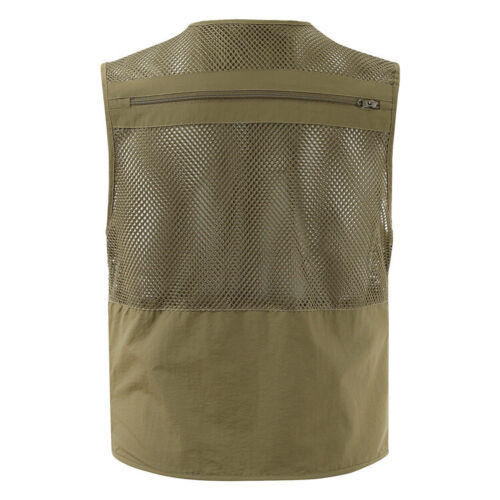 Outdoors Travels Vest Tops Mesh Men Plus Size L-4XL Photographer Jackets Pockets