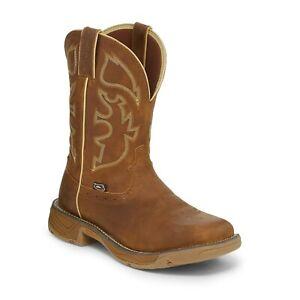 Justin Men S Stampede Rush Rustic Tan Boot Wk4330 Ebay