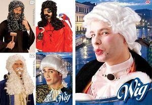 Costume-Rinascimento-Parrucche-Ricci-Uomo-capelli-Vittoriano-CIPRIA-baffi-barba