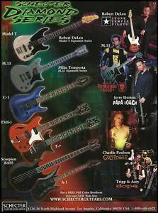 Schecter Model T M.33 TSH-1 guitars Stone Temple Pilots Papa Roach ad print