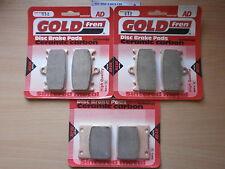 SUZUKI GSX-R 600 (SRAD) 1999 GSXR600 > FULL SET SINTERED HH BRAKE PADS *GOLDFREN