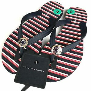 Details zu TOMMY HILFIGER Women's CACEY R Flip Flops Sandals, Anchor Print, UK 3.5 4.5