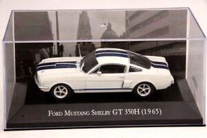 Altaya-1-43-Ford-Mustang-Shelby-GT-350H-1965-Car-Diecast-Models-Collection-White