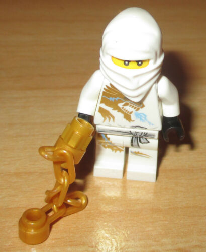 Zane mit Kette Drachendruck in Weiß Neu Lego Ninjago Figur