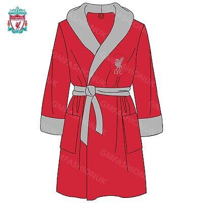Chelsea FC Official Football Gift Boys Hooded Fleece Dressing Gown Robe Royal Blue