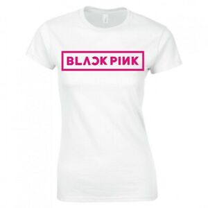 "BLACKPINK, KOREAN, K-POP ""LOGO"" LADIES SKINNY FIT T-SHIRT"