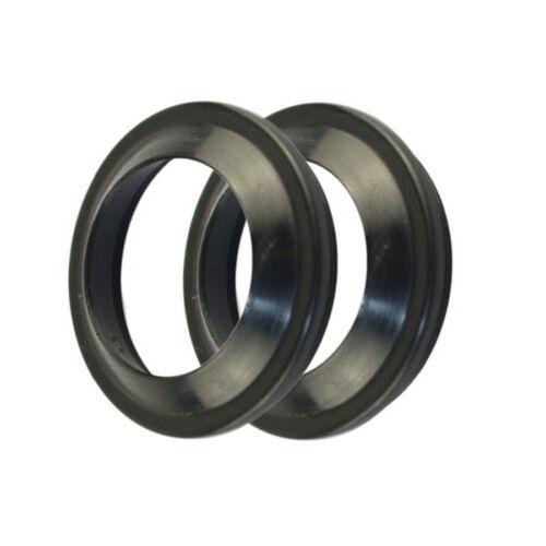 4X Black Rubber Seal Ring Front Fork Damper For Ducati Honda Suzuki Motorcycles