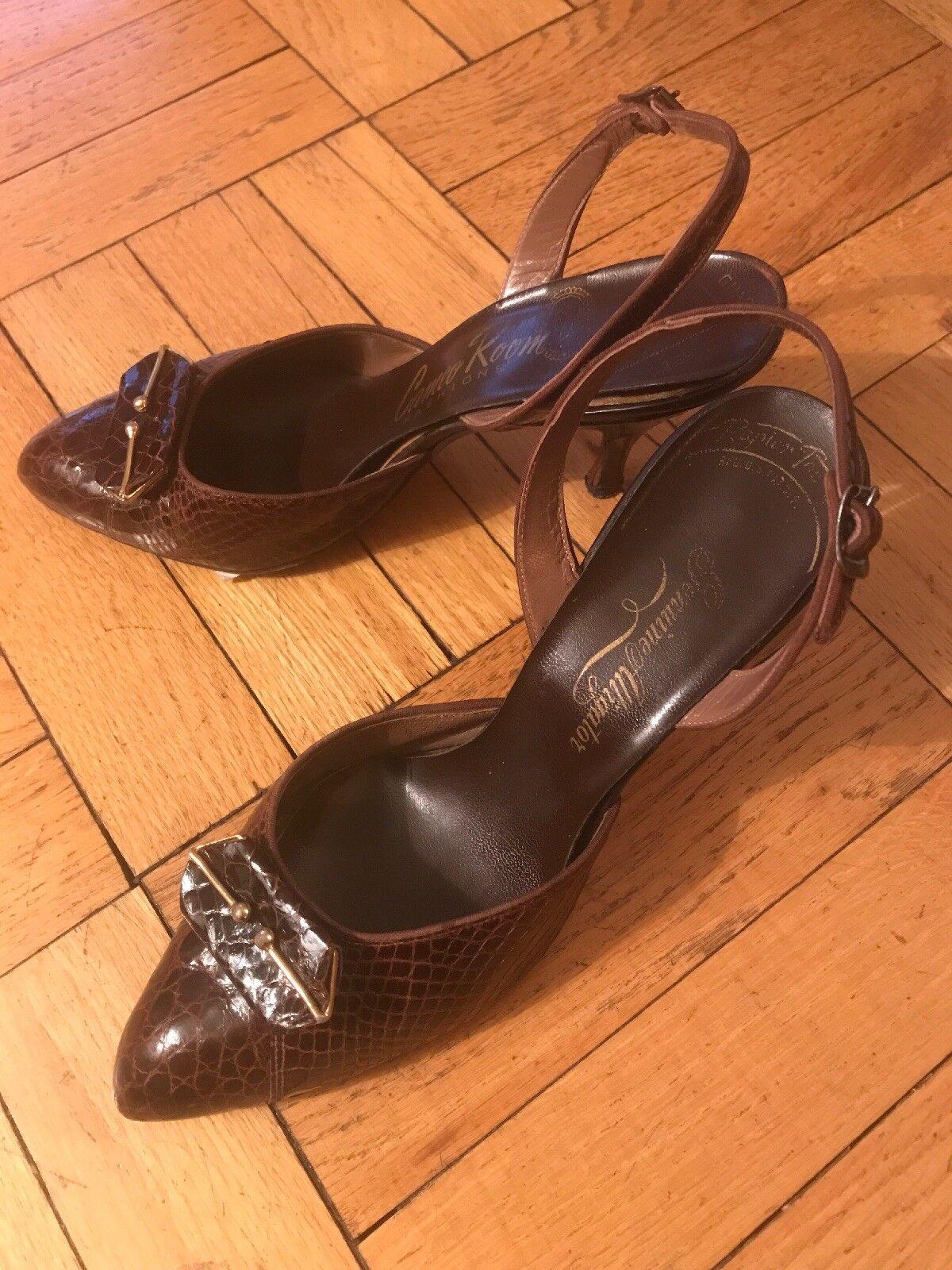 Vintage Cameo Room Fashions Genuine Classic Slingback Heels