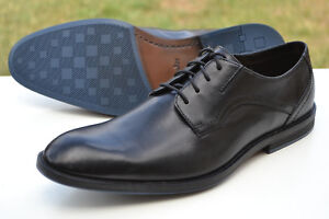 Leather formales 5 zapatos hombre Clarks 10 Prangley Walk Uk para Black 44 0Zwqx5q7