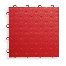 BlockTile B0US4330 Garage Flooring Interlocking Tiles Coin Top Pack, Red 30-Pack