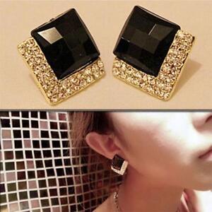 Women-Dangle-Earrings-Rhinestone-Crystal-Ear-Stud