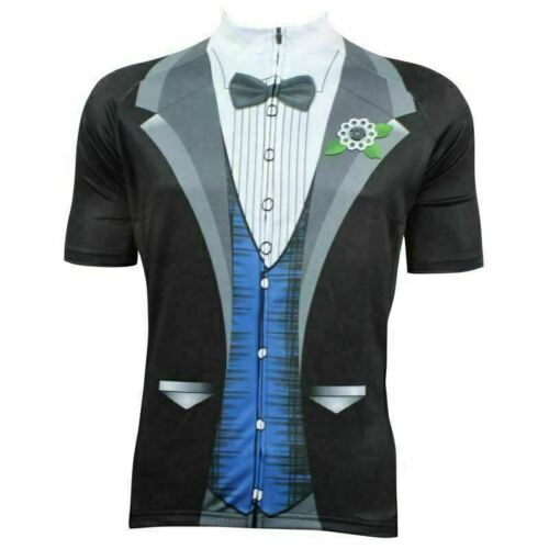 TUXEDO BOW GROOM SUIT Cycling Jersey Shirt Retro Bike Ropa Ciclismo MTB Maillot