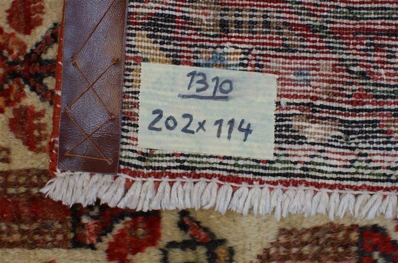 Nr 1310 Handgeknüpfter ORIGINAL ORIGINAL ORIGINAL TEPPICH VINTAGE HAMEDAN aus Wolle ca 202 x 114 75a701