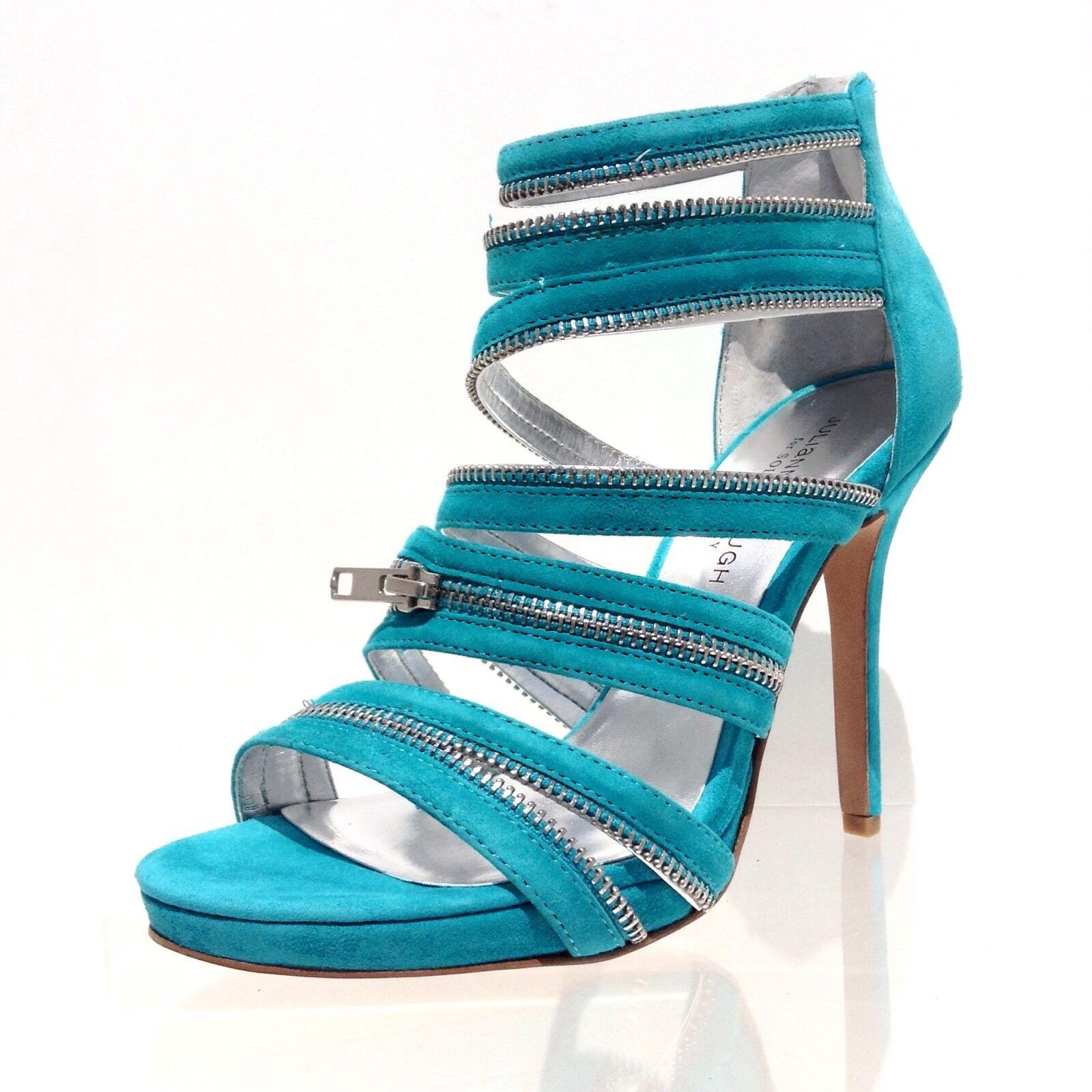 Women's Sole Society Makenna Bermuda bluee Leather Strappy Heels Size 7 M NEW