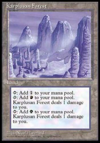 Karplusan Forest NM Normal English MTG Ice Age Magic the Gathering Magic Card