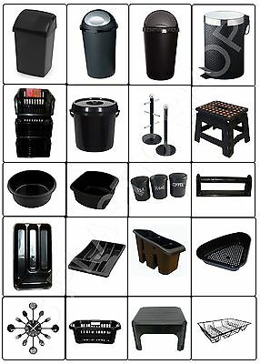 Bullet Swing Bin Plastic 50L Drainer Tray Bowl Tidy Jar Basket Stool Kitchen Set