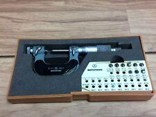 Nice Mitutoyo No 126 Screw Thread Micrometer 0 1 001