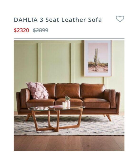 Freedom Dahlia 3 seater Leather sofa in Oxford Tan ORP $ 2899