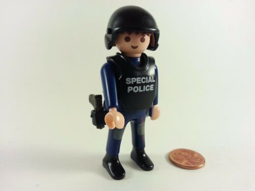 PLAYMOBIL POLICE FIREMEN GUN HELMET HAT VEST FEMALE BLUE BLACK GREEN CHOOSE 1!