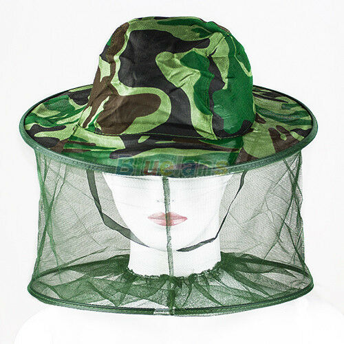 Bug Insect Bee Mosquito Resistance Net Mesh Head Face Protector Cap Sun Hat BF0U