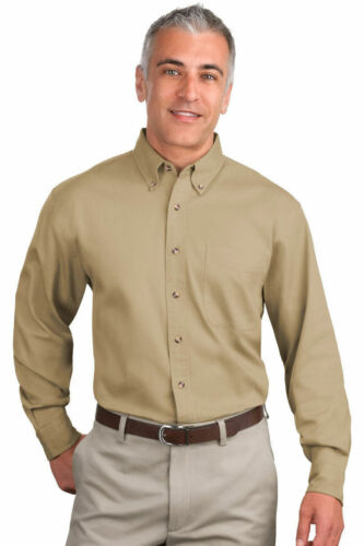 TLS600T Port Authority Men/'s Big /& Tall Long Sleeve 100/% Cotton Twill Shirt