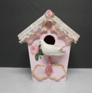 Hand Made & Crafted Indoor Decorative Wall Hanging Bird House Artist Signed DLR
