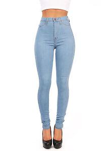 Vibrant Denim High Waist Womens Skinny Jeans High Waisted Skinnys ...