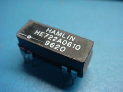 HAMLIN HE722A0610 MINIATURE REED RELAY DPST 500MA 5V 8 PIN DIP 5