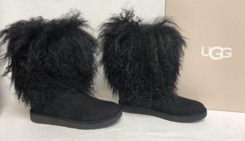 Ugg lange schapenvacht mongoolse S Lida 1017516 2017 Zeldzame lederen met Australia laarzen zwarte 1T5lJuFK3c