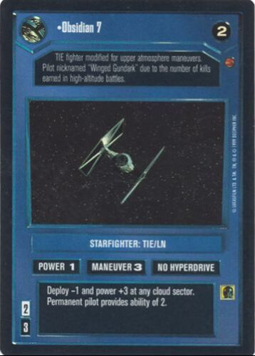 Star Wars CCG Reflections I VRF Very Rare Foil Obsidian 7