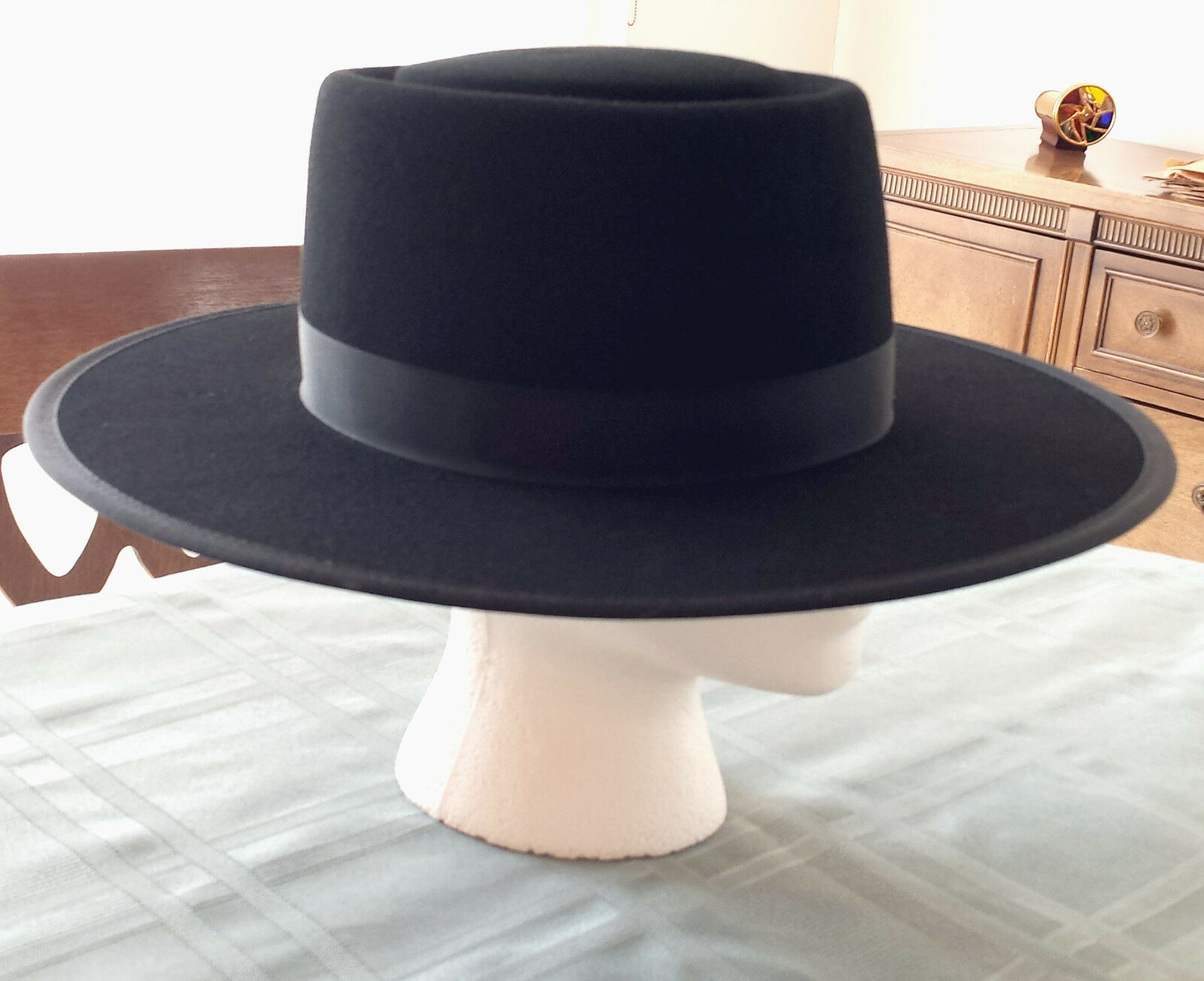 fb02edf32 Men's Authentic Amish Black Felt Hat made in Lancaster County, PA