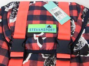 adidas-STELLASPORT-Plaid-Floral-Printed-Gym-Yoga-Fashion-Travel-School-Backpack