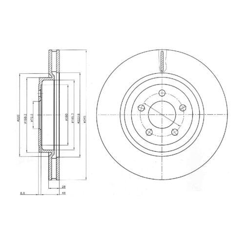 Genuine Delphi Avant Ventilé Disques De Frein Lot Paire-BG9013