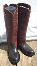 Polo Player Riding Tall Boots Men's 9 Western Leather