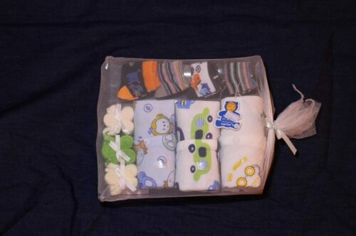 Baby Gift Set 3XRomper 4XSocks 3X TOWEL COULOURFUL BRIGHT 0-3 Months Unisex