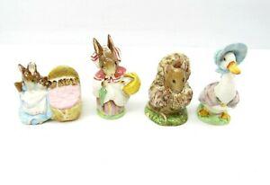 Beswick-England-Beatrix-Potter-Figurines-Lot-Tomasina-Jemima-Mrs-Rabbit-Hunca