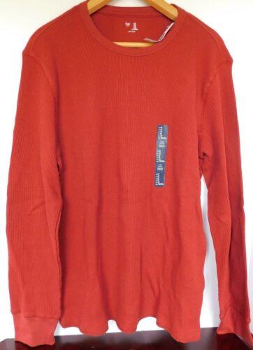 NWT GAP Men/'s Thermal Shirt Long Sleeve Rust XS S M XL MSRP$30 New