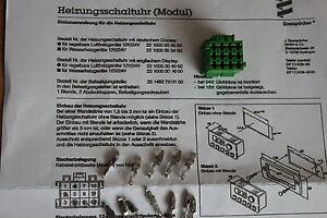 Gehause-Kabelbaum-Webasto-Eberspaecher-Thermo-Top-connector-Stecker-Moduluhr