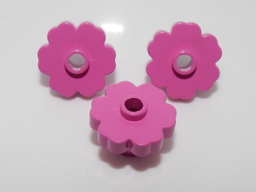 Lego Lot Of 2 Dark Pink Plant Flower 2 x 2 Rounded