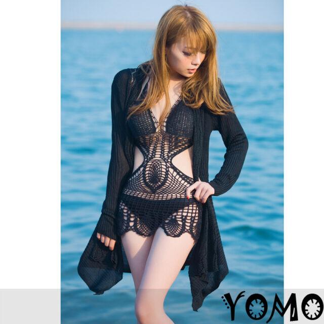Handmade BEACH WEAR & COAT SEXY SWIMSUIT MONOKINI MINI DRESS COVER UP CROCHET