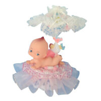 Pink Accent Kewpie Pvc Doll Cake Top Baby Shower Birthday Ornament Decoration