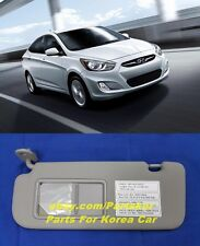 For 2012~ HYUNDAI ACCENT VERNA SOLARIS SUN VISOR DRIVER SIDE GRAY(Trim code  8M 8de159734ff