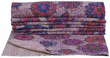 Handmade Bedspread Cotton Twin Size Kantha Quilt Indian Bedding Throw Bedcover